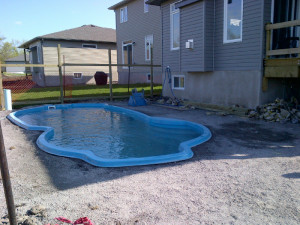 Pool almost ready for concrete
