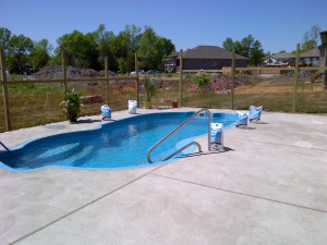 Pool 1 with cement