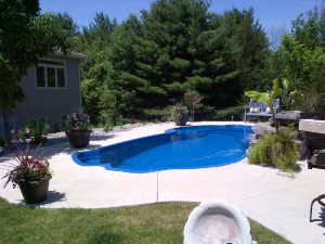 Landscaping and pool