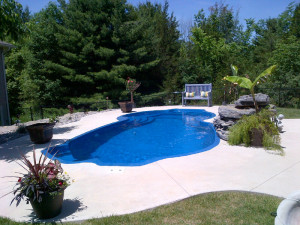 New view of pool