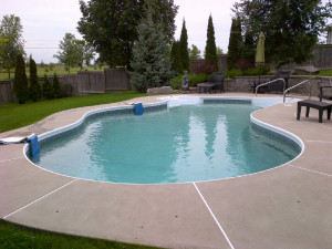 Pool Before liner and decking