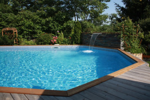 Wood decking and coping
